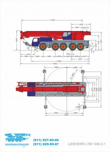 Габаритные размеры LIEBHERR LTM 1200-5.1