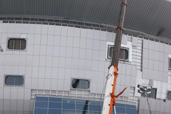 Наш автокран ZOOMLION на стадионе Зенит-Арена