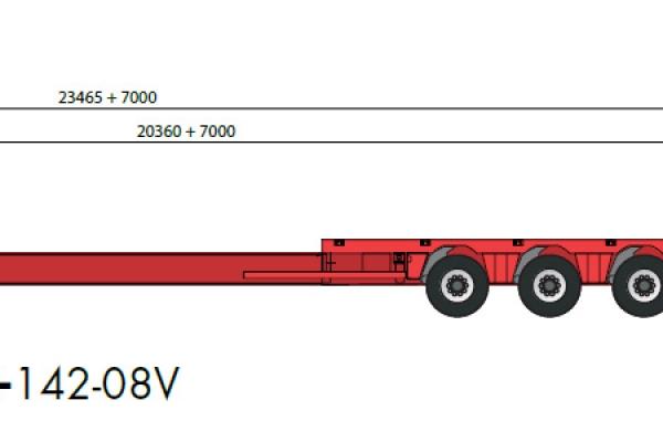 Схема и габариты Трала NOOTEBOOM MCO-PX-142-08V